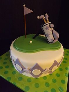 Golfing Retirement Cake By-The Mad Platters