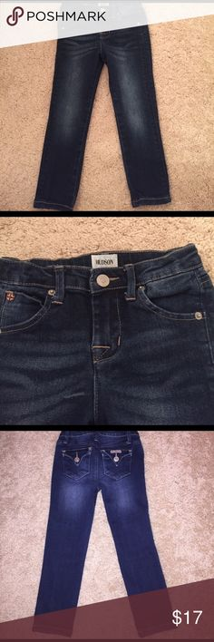 Toddler Girl Hudson Jeans Gorgeous and in excellent used condition!! Like new! She only wore them a couple times, adjustable waist, button snap closure.  Purchased from Nordstrom 2 years ago. Last pic is with flash so it looks lighter, but true color wash is the top pic!!! Hudson Jeans Bottoms Jeans