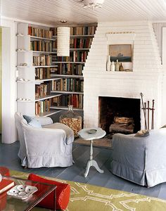 Douglas Friedman {white and neutral rustic vintage modern living room} by recent settlers, via Flickr