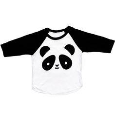 Kawaii Panda Baseball T-Shirt from Whistle & Flute