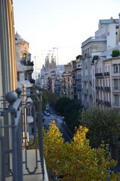 View from my Apartment in L'Eixample.