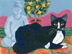 Zen Garden Cat greeting card by StudioLolo2 on Etsy, $2.95