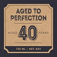 40th Milestone Birthday - Dashingly Aged to Perfection - Custom Wine Bottle Label Birthday Gift | BigDotOfHappiness.com