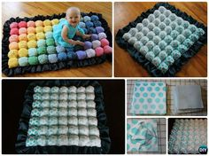 DIY Rainbow Bubble Quilt Sew Pattern Puff Blanket Biscuit Quilt Sew Pattern Instruction - video
