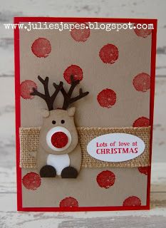 Julie Kettlewell - Stampin Up UK Independent Demonstrator - Order products 24/7: Another Reindeer Card