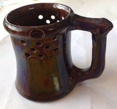 George Ohr Rabbit Puzzle Mug,  American Art pottery