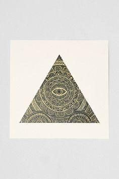 Caitlin Keegan Triangle Eye Art Print #urbanoutfitters