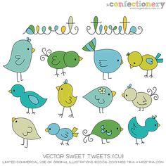 SHCO Confectionery - CU - Vectors - Vector Sweet Tweets {CU} - www.sugarhillco.com/cc
