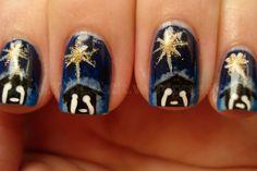 Nativity Christmas nails