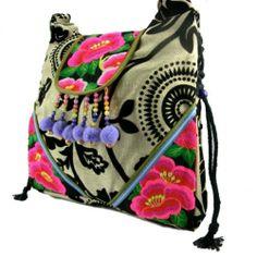 Vintage Hmong Thai Indian Ethnic hobo messenger shoulder bag, Baby Carrier bag