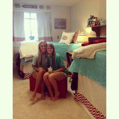 Perfect Dorm Room. Monograms and Chevron