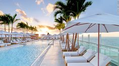1 Hotel South Beach Miami Beach, Florida outdoor sky tree leisure chair Beach swimming pool vacation Resort caribbean Sea Ocean arecales marina dock walkway shore lined accessory furniture set sandy several South Beach Miami, South Beach Hotels, Miami Pool, Miami City, North Beach, Beach Resorts, Fort Lauderdale, Best Hotels In Miami, Piscina Do Hotel