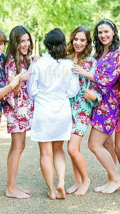 Bridesmaid robes for your bridal party, comes in multiple colors and sizes Bridesmaids And Groomsmen, Wedding Bridesmaids, Bridesmaid Dresses, Bridesmaid Robes Cheap, Bride And Bridesmaid Pictures, Bridesmaid Ideas, Wedding Pics, Dream Wedding, Wedding Ideas