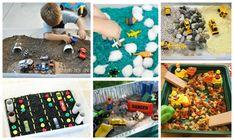 ejemplos de cajas sensoriales para acompañar libros y cuentos de vehículos