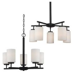 Sea Gull Lighting 5-Light 20'' Blacksmith Incandescent Chandelier with Cased Opal Etched Glass at Menards®: Sea Gull Lighting 5-Light 20'' Blacksmith Incandescent Chandelier with Cased Opal Etched Glass