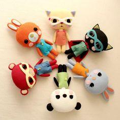Plush Toy Pdf Pattern - Bunny, Kitty and