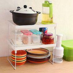 Foldable Racks Home Bathroom Kitchen Storage Shelving Shelf Holders Organizer