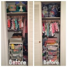 Leah Nursery — Organizing by Allison Nursery Organization, Unisex Baby Clothes, Baby Shower, Closet, Educational Toys, Organizing, Home Decor, Bedroom, Organization