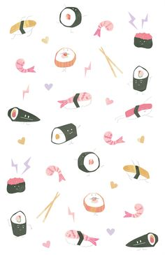 #sushi #illustration