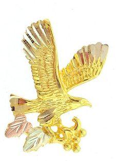Diamond-cut 10K Yellow-gold Black Hills Gold EagleTie-tac/Lapel pin: http://www.amazon.com/Diamond-cut-Yellow-gold-Black-Hills-EagleTie-tac/dp/B001VSUQCW/?tag=greavidesto05-20