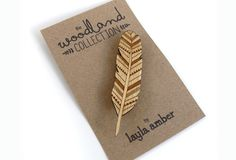 Image of Woodland Feather Brooch