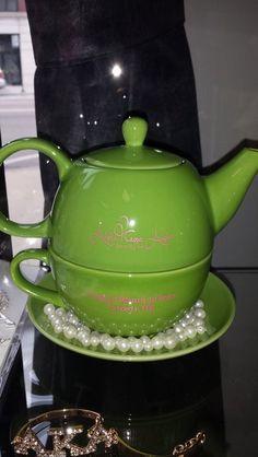 Alpha Kappa Alpha Green Tea pot | Sorority Greek apparel and accessories