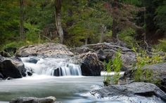Sweetwater Creek Park in LIthia Springs features two trails with waterfall…