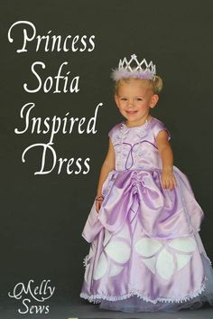 Inspired by Princess Sofia the First - Dress Tutorial - Melly Sews