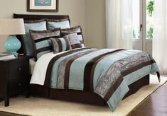 cabin style bedroom comforters | curtains bath accessories new arrivals featured styles shop by brand bedding, comfort set, bedroom idea, chocolates, color, comforter sets, stripes, aqua, comforters
