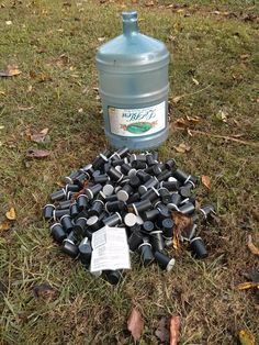 150 Film Canisters, 1 of them holds the log. Pure evil. - Found several like this. Great fun!