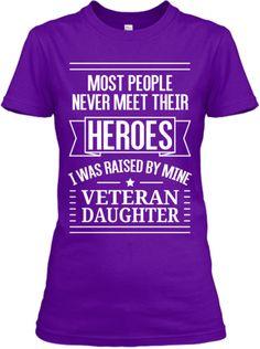 Veteran Daughter T-Shirts and Hoodies | Teespring
