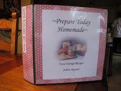 Preparedness binder / food storage binder