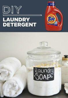 El detergente para ropa hoy en dia es TAN caro. Ahorra dinero con esta fácil receta.
