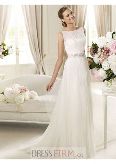 Charming Chiffon And Satin For Princess Wedding Dress