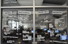 Create a Glass Wall of Poetry  http://www.programminglibrarian.org/blog/2011/november-2011/create-a-glass-wall-of-poetry.html#.Twkj4lZ2OSp