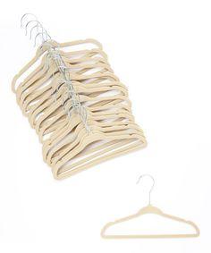 Ivory Velvet Hanger - Set of 30 by Home It #zulily #zulilyfinds