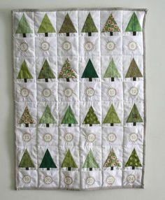 Tiny forest advent calendar quilt - gorgeous!!