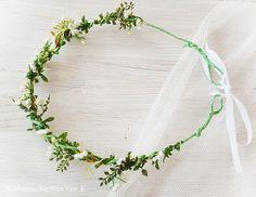 Haarkranz Blüten Weiss Vintage-Style