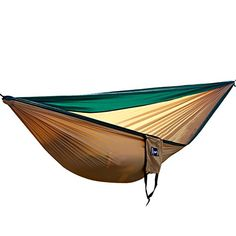 HK Portable Parachute Nylon Fabric Lightweight Travel Camping Hammock -- Want to know more, click on the image.