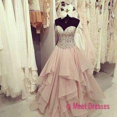 Gorgeous sweetheart ruffled long prom dress,evening dresses PD20181954