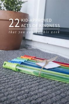 Love the idea of helping our children develop compassion and empathy by starting with simple acts of kindness! And a lot of these don't require any prep work!