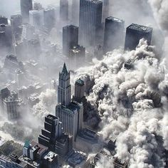 9/11 from the sky.