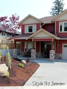 Cedar impressions siding in autumn red is sure to make an for Norman rockwell siding