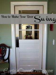 How to Make Your Door Swing!