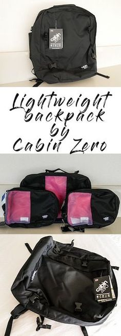 The best lightweight cabin bags for travelling - Cabin Zero backpacks are the latest in lightweight designs as well as being practical and funky looking!
