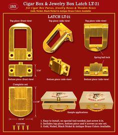 Durable Box Purse Latch, Wooden Box Latches, Cigar Box Purse Latch Supply