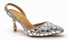 Silver Shoes Low Heel, Low Heel Shoes, Low Heels, Slip On Shoes, Rhinestone Wedding Shoes, Silver Wedding Shoes, Bridal Wedding Shoes, Special Occasion Shoes, Very High Heels