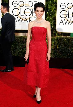 Julianna Margulies in Ulyana Sergeenko at the 2015 Golden Globes
