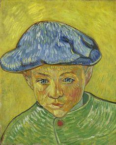 Vincent van Gogh, Portret van Camille Roulin, 1888, Van Gogh Museum -  Camille was de jongste zoon van de postbeambte Joseph Roulin, met wie Van Gogh bevriend was. Kijk voor de bijbehorende les 'Famille van Camille', geschikt voor groep 3 t/m 6 van de basisschool,  op vangoghmuseum.nl/bo-lessen