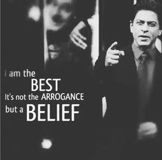 The King said so himself. Bollywood Quotes, Bollywood Actors, Shah Rukh Khan Quotes, Happy Quotes, Life Quotes, Swag Quotes, Sr K, Gentleman Quotes, My Attitude